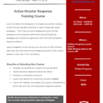 Active Shooter Response Training Course Hosted by Phillips Programs